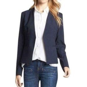 Theory Blazer Jacket Wool Navy Blue Lana Sz 4
